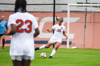 """We moved the ball quite well from side to side,"" SU head coach Phil Wheddon said, ""and we're dangerous playing forward."""